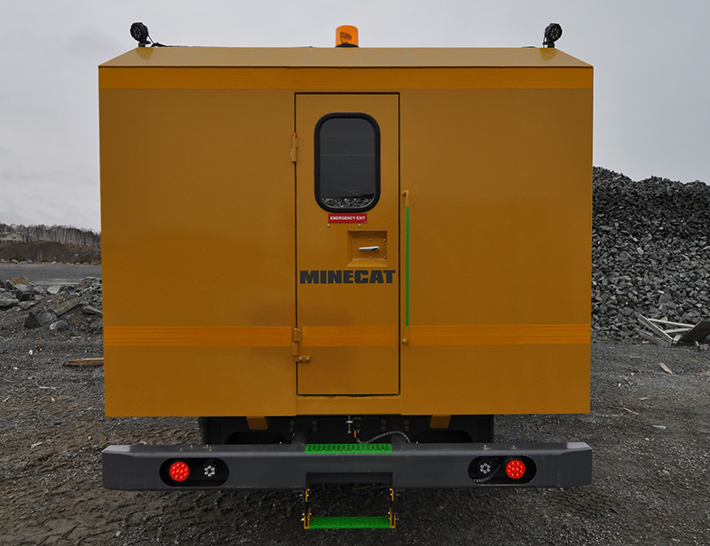 Rear View of MINECAT CF240 Mining Personnel Carrier