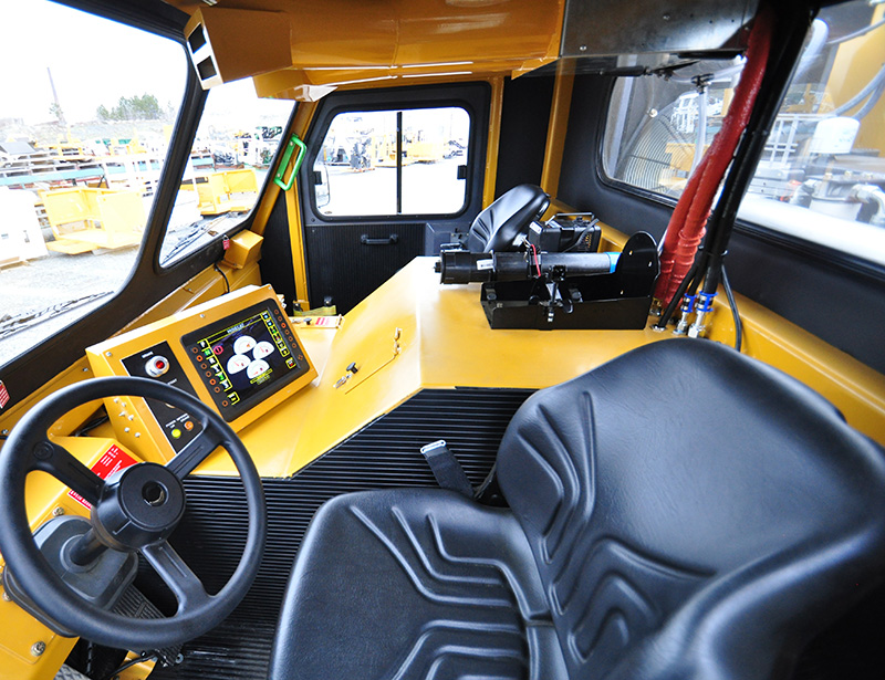 View of Operator Cab from Drivers Seat of the MINECAT CF240 Mining Personnel Carrier