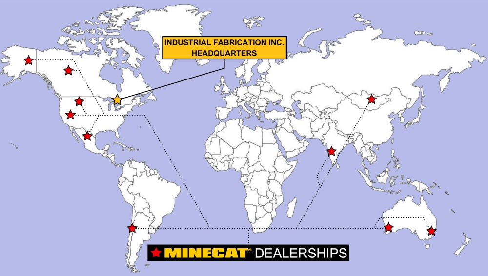 Industrial Fabrication Dealership Map