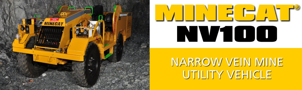 MINECAT NV100 Narrow Vein Mining Utility Vehicle