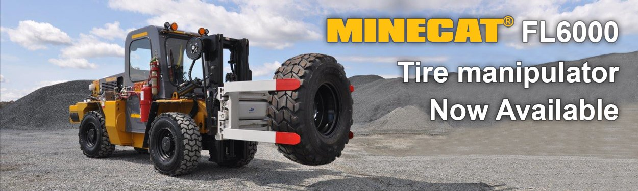 MINECAT FL6000 Mining Underground Forklift with Tire Manipulator Option