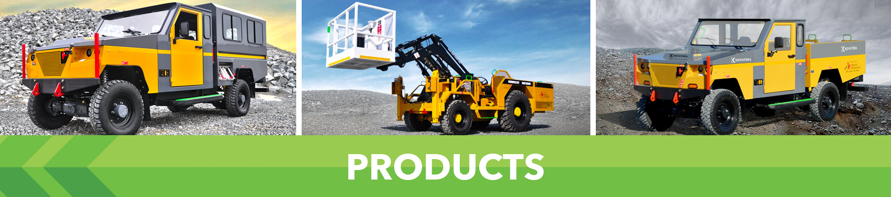 MINECAT Electric and Diesel Utility Products Banner